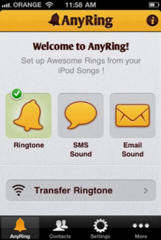 برنامج AnyRing اختار نغمة الايفون بأسهل الطرق